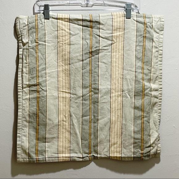 POTTERY BARN Blue Stripe Pillow Cover